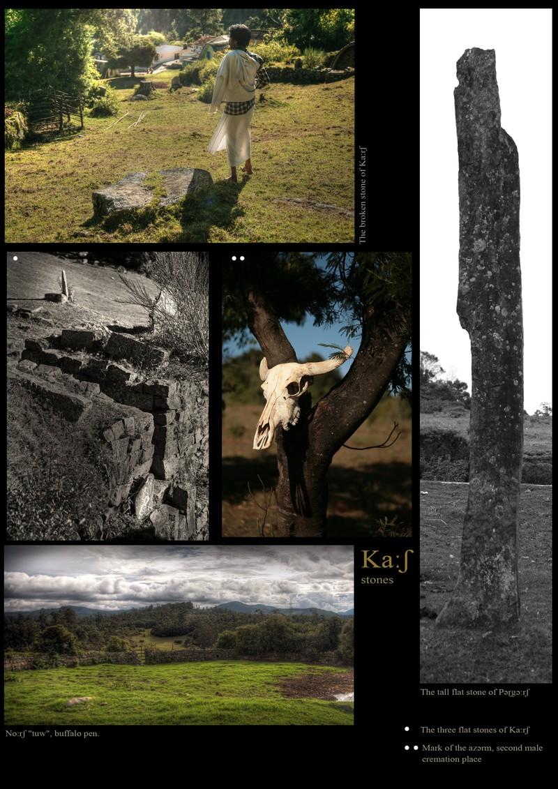Ka:sh', Toda stones and menhirs. Buffalo pen.